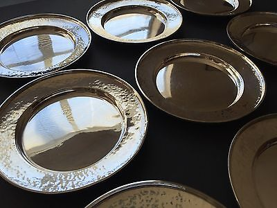 Set of 9 G. H. French & Co. Sterling Silver Bread Plates (1920s), No Monogram 3