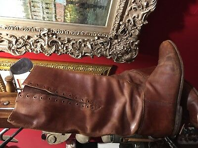Wwi Wwii Us Cavalry Officer Shaft Lace Riding Boots Excellent Condition Size 10 4