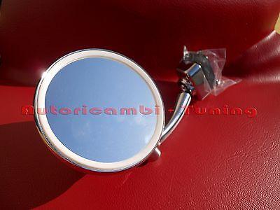 *FRP*SPECCHIO A GOCCIA CROMATO MORSETTO DX = SX  FIAT 500 D F L R mirror chromed