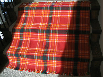 Vintage New Zealand Moeraki Wool Throw Rug Mosgiel Woollens Ltd
