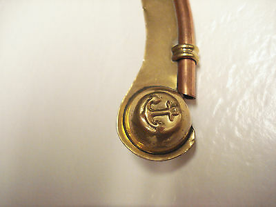 Vintage Maritime  Copper And Brass Boatswains Whistle   #B-14 3