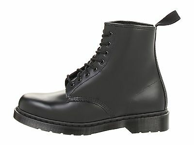 Men's Shoes Dr. Martens 1460 MONO 8 Eye Leather Boots 14353001 BLACK SMOOTH 2