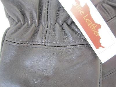 Childrens Boys Girls Black Genuine Leather Gloves Winter Lined Good Quality 2 • EUR 5,46
