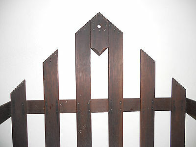 Antique Wood Hanging Rack 1920S? Possibly Arts And Crafts/Mission/Victorian 2