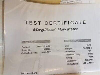 MJK Magflux 7300 DN50 Electromagnetic Flow Meter Sensor 207322-016-00 - New 3