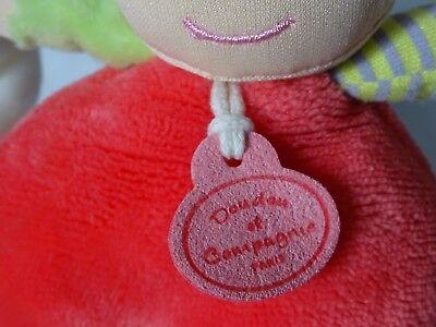 Doudou Et Compagnie Les Demoiselles Cupcake Corail 20 Cm Doudou Mouchoir Hochet 9