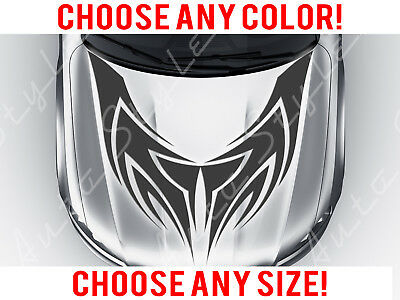 Sport Car Dragon Chinese Mirrored Hood Decal Vinyl Sticker Custom Any Size Color