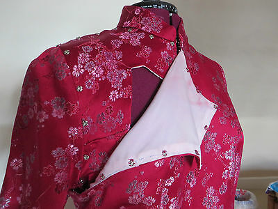 HALF PRICE!!  SILK BROCADE Traditional Oriental Chinese Cheong Sum Dress - L 4