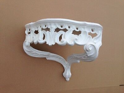 Wall Console Antique White Barok Shelf 38x28 Mirror Corner Flower Stand 2