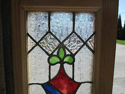 ~ ANTIQUE AMERICAN STAINED GLASS WINDOW ~ 12 x 37.5 ~ ARCHITECTURAL SALVAGE 2