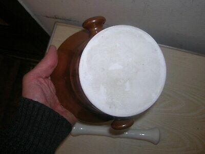 Uralter Apotheker Porzellanmörser Mörser um 1910 Höhe 14cm , Durchmesser 17cm 4