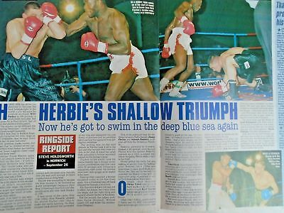 BOXING NEWS - 2nd oct 1998 - herbie, paul, lewis holyfield, naz free p&p to uk 7