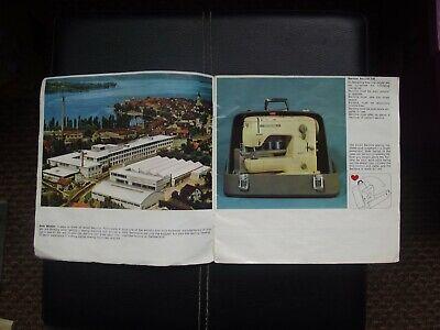 Bernina Record sewing machine Sales brochure 1960's 2