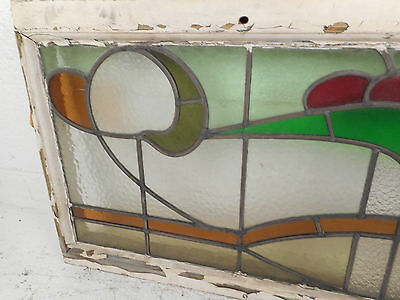 Vintage Stained Glass Window Panel (3222)NJ 5
