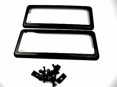 License Plate Cover Surrounds Waterfroof Slimline 3 Or 4 Dig Vic & Other Plates