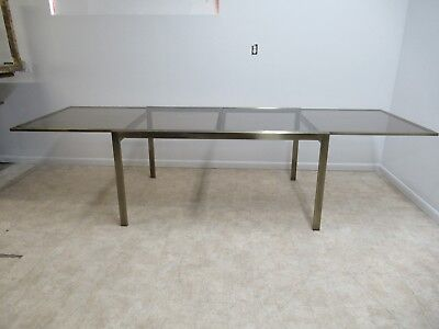 Mastercraft Bronze Floating Cantilever Dining Room Conference Table Mid Century