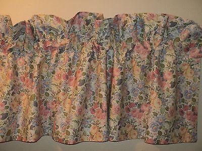 """Laura Ashley Vintage Valance Denim Blue Cottage Floral 84/"""" X 18/"""" New Old Stock"""