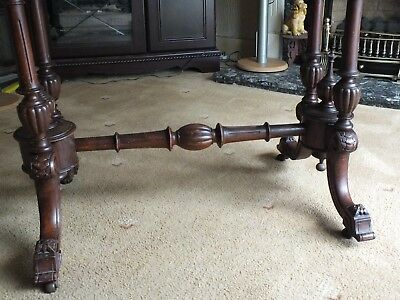 Antique Victorian Walnut Card/Games Table. 5