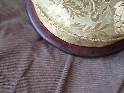 antique low upholstered footstool 4