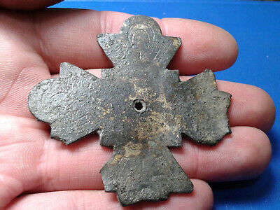 Ancient Byzantine Bronze Cross 6