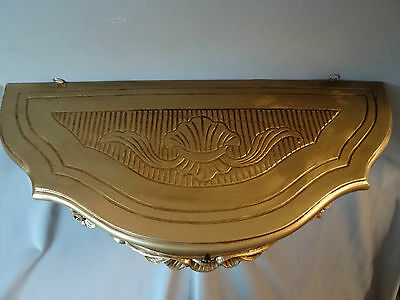 Wall Console with Drawer/Mirror Console/Wall Shelf Baroque Gold 50x27 Antique 4