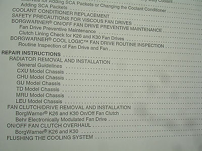 MACK TRUCK MP7 MP8 MP10 Engine Cooling System Radiator SERVICE MANUAL Shop  7-002