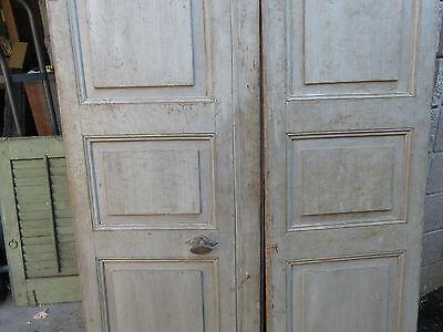 """pAIR ~ LATE 19th century antique furniture CABINET DOORS 74.5"""" x 21"""" & 18.25"""" 8"""