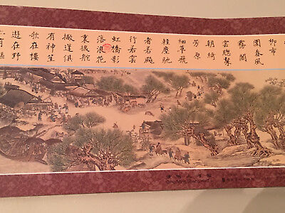 Long Chinese scroll painting 清明上河图