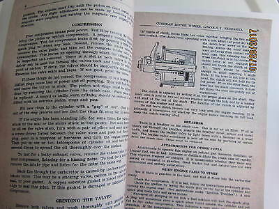 Cushman 4 to 6 HP Single Cyl. Upright Gas Engine Instruction & parts Manual 3