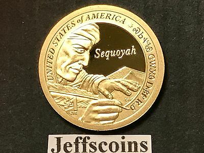 2017 S SACAGAWEA NATIVE AMERICAN Sequoyah from Cherokee Nation Proof Dollar New 2