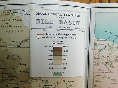 Antique 1903 Lithographed Map-Egypt Africa Nile Basin Red Sea-Stokes Co. COA 4