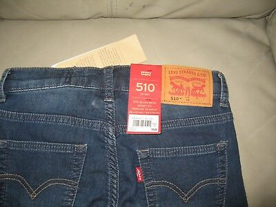 Levi's Boys Blue Wash 510 Skinny Fit Knit Denim Jeans, Size 10 140cm 4