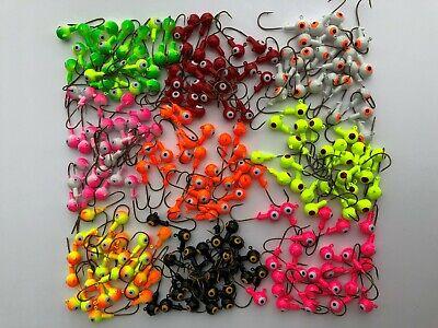 100pcs//box Mixed Fishing Lead Jig Heads Hooks Jig Ball Fishing Lures Hooks NEWLY
