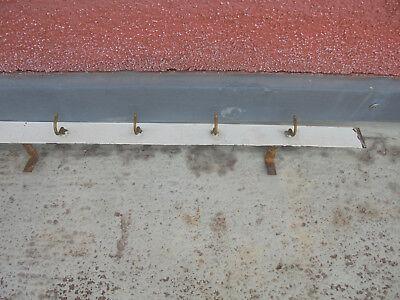 29131 Bauhaus ART DECO  HAKENLEISTE Eisen Messing SHABBY CHIC 1930 LOFT 115cm