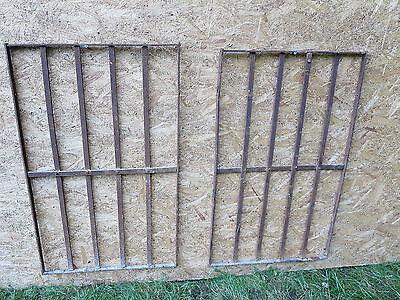 2 Antique Victorian Iron Gate Window Garden Fence Architectural Salvage Door 000 2