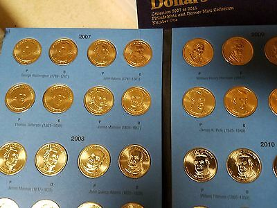 40 Coins P/&D HE Harris Vol 1 Complete Set 2007-2011 Presidential Gold Dollars