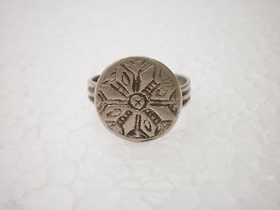 ANCIENT RARE Gorgeous Medieval Silver FINGER RING  ca 14 - 15 century AD 2