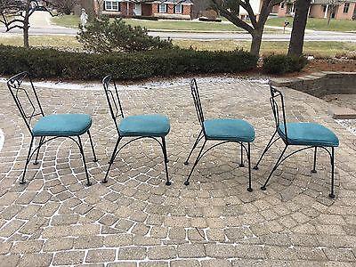 Mid Century Vintage 4 Patio/Dining Chairs Woodard