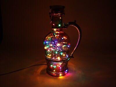 Flaschen Lampe Ratskeller Pils Krug rustikal Tischlampe mit 120 LED´s ww+MC 4