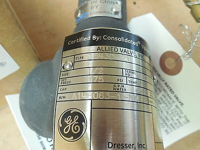 1 Of 4 Dresser Ge Consolidated Safety Valve 154 21 15421 175 Psi 2 Npt