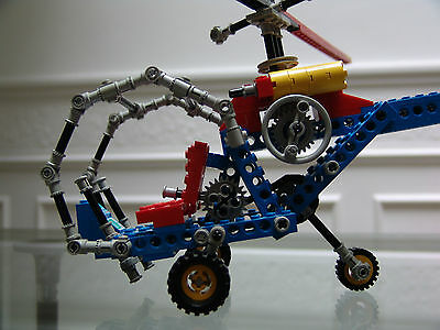 1981 Lego Technic Blue Helicopter With Box And Instructions 8000