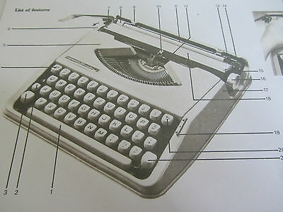 'hermes Baby/rocket Typewriter *photocopy Of An Original Instruction Booklet* 3
