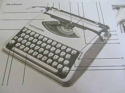 'hermes Baby/rocket Typewriter *photocopy Of An Original Instruction Booklet*