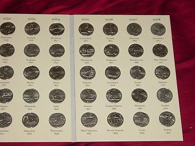 Complete set US STATE QUARTERS 1999-2008 New Littleton folder 2