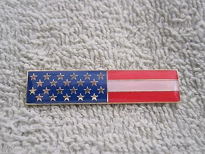 US AMERICAN FLAG HARD ENAMEL CITATION BAR PIN UNITED STATES UNIFORM FLAG BADGE