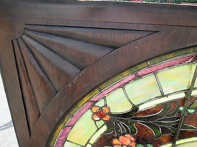 10.5' Monumental Jeweled Antique Stained Glass Portrait Window  Ny Estate # 1 6