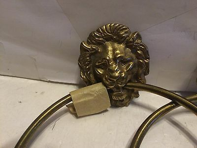 3 Antique LION DOOR KNOCKERS. MADE IN JAPAN Nice patina and condition 3