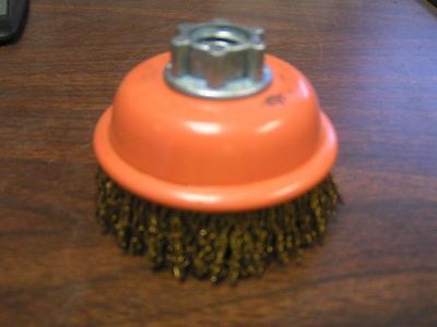 "JAZ Cup brush, cable crimp wire, 3""x.014"", MULTI THREAD HUB 2"