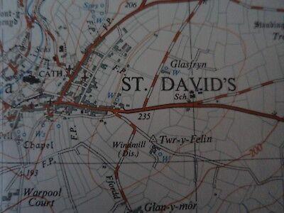 "Ordnance Survey 2.5"" Map SM72 St Davids 1958 Tre-tio Ramsey Island, bit. 5"