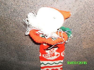 Weihnachtsdeko, Nikolausstrumpf-,stiefel, Wolle, rot-weiß-grün ...